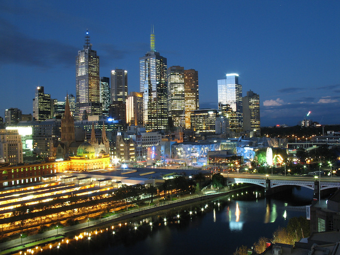 Melbourne night and lights